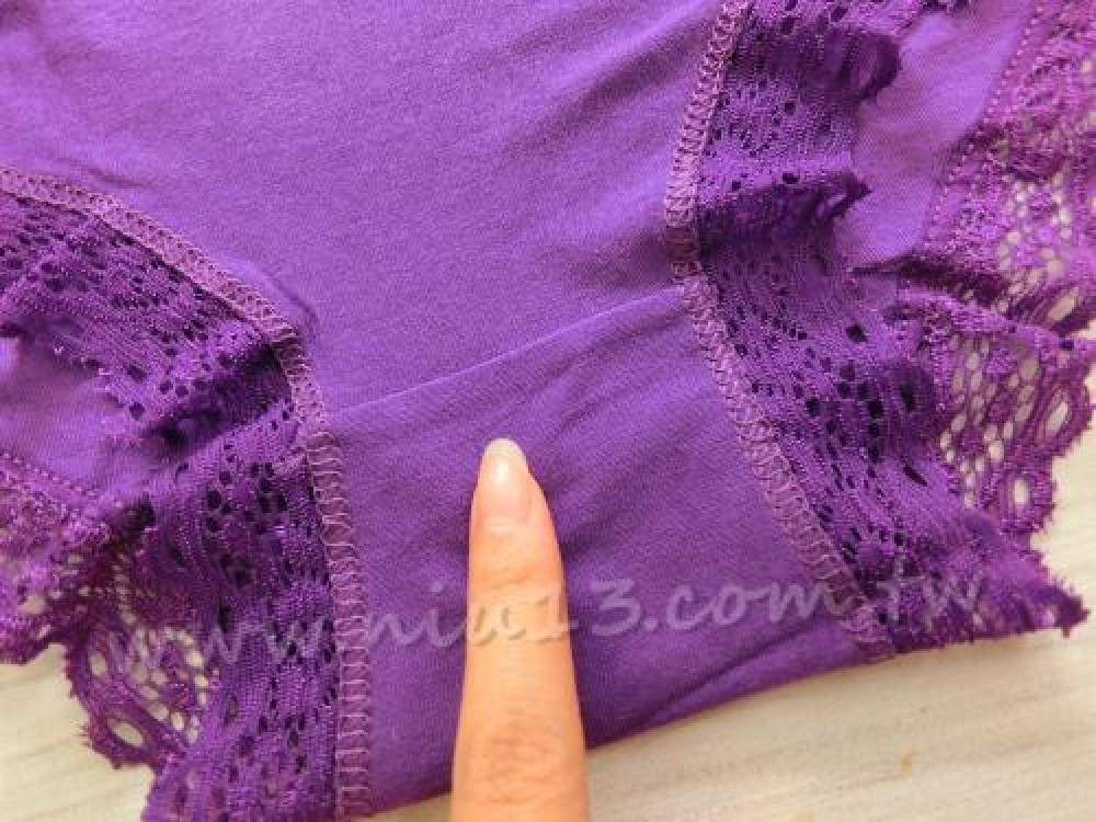 甜美蕾絲花邊莫代爾多色內褲單件 8色