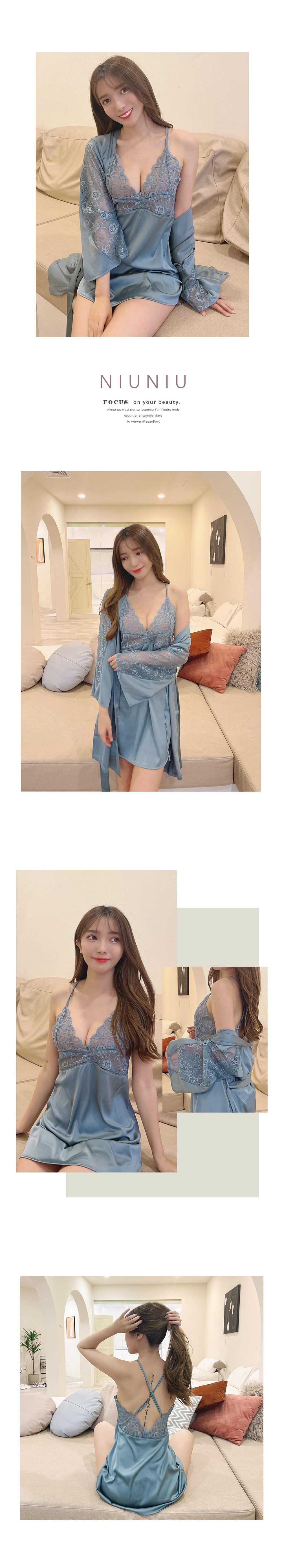 簍空透視性感美背二件式睡衣套裝 4色